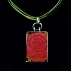 Silpada leather necklace